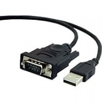 Staples 1' USB to Serial Adapter, Black