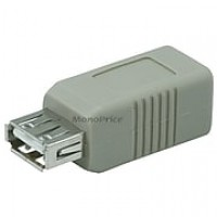 Monoprice® USB 2.0 A Female to B Female Adapter, Gray