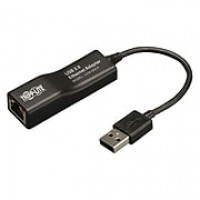 Tripp Lite USB 2.0 Male to Female USB Hi-Speed to Ethernet Adapter, Black