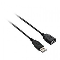 V7 6' USB Male to Male Extension Cable, Black