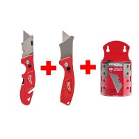 Milwaukee Fastback Flip Utility Knife Set with Utility Blades (50-Pack)