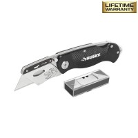Husky Folding Lock-Back Utility Knife