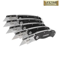 Husky Folding Lock-Back Utility Knife (5-Piece)