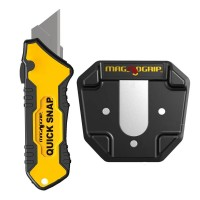 MagnoGrip Quick Snap Slide Open Utility Knife with Universal Magnetic Holder