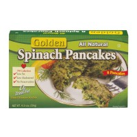 Golden Spinach Pancakes All Natural - 8 ct Frozen