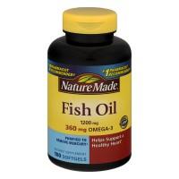 Nature Made Fish Oil 360 mg Omega-3 1200 mg Supplement Liquid Softgels