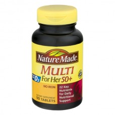 Nature Made Multi for Her 50+ Multivitamin Dietary Supplement Tablets