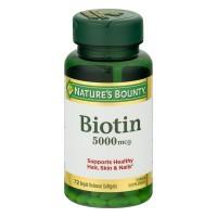 Nature's Bounty Biotin 5000 mcg Super Potency Liquid Softgels