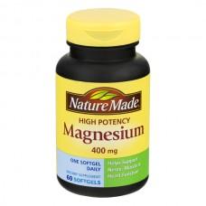 Nature Made Magnesium 400 mg High Potency Supplement Liquid Softgels
