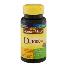Nature Made Vitamin D3 1000 IU Supplement Tablets