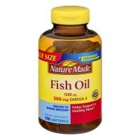 Nature Made Fish Oil 1200 mg Omega-3 360 mg Supplement Liquid Softgels