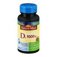 Nature Made Vitamin D3 1000 IU Supplement Liquid Softgels