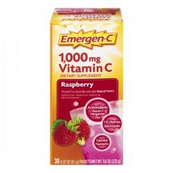 Emergen-C Raspberry Fizzy Drink Mix Dietary Supplement 1000mg Vitamin C