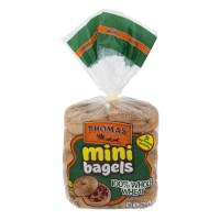 Thomas' Mini Bagels 100% Whole Wheat - 10 ct