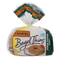 Thomas' Bagel Thins 100% Whole Wheat - 8 ct