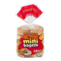 Thomas' Mini Bagels Plain - 10 ct