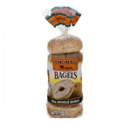Thomas' Bagels 100% Whole Wheat - 6 ct