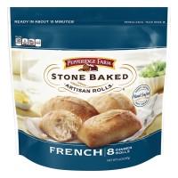 Pepperidge Farm Stone Baked French Artisan Dinner Rolls Frozen - 8 ct