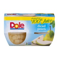 Dole Fruit Bowls Pears Diced in 100% Juice - 4 ct