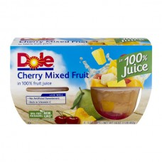 Dole Fruit Bowls Mixed Fruit Cherry in 100% Juice - 4 ct
