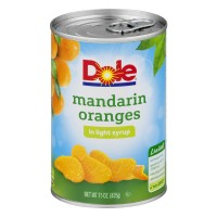 Dole Mandarin Orange Segments in Light Syrup