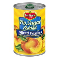 Del Monte Peaches Sliced No Sugar Added Sweetened with Splenda