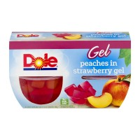 Dole Fruit Bowls Peaches in Strawberry Gel - 4 ct