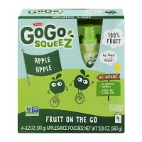 Materne GoGo SqueeZ Apple Sauce Fruit on the Go Pouches - 4 ct