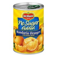 Del Monte Mandarin Oranges In Water No Sugar Added