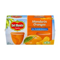 Del Monte Fruit Cups Mandarin Oranges No Sugar Added - 4 ct