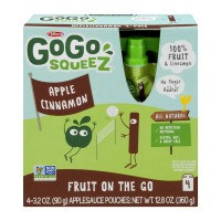 Materne GoGo SqueeZ Apple Cinnamon Sauce Fruit on the Go Pouches - 4 ct