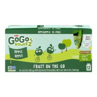 Materne GoGo SqueeZ Apple Sauce Fruit on the Go Pouches - 12 ct