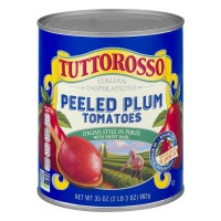 Tuttorosso Tomatoes Plum Peeled with Sweet Basil