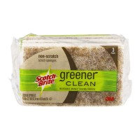 Scotch-Brite Greener Clean Scrub Sponges Non Scratch Natural Fiber