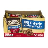 Snyder's of Hanover 100 Calorie On The Go Packs Pretzel Minis - 10 pk