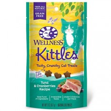 Wellness Kittles Crunchy Natural Grain Free Tuna & Cranberry Cat Treats, 2 oz