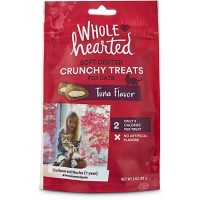 WholeHearted Soft Center Crunchy Tuna Flavor Treats for Cats, 3 oz.