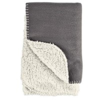 "Harmony Cozy Sherpa Pet Throw in Dark Grey, 24"" x 24"""