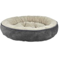 "Harmony Textured Round Cat Bed in Dark Grey, 20"" L x 20"" W"