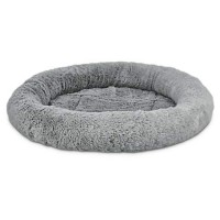 "Harmony Oval Cat Bed in Grey, 17"" L x 14"" W"