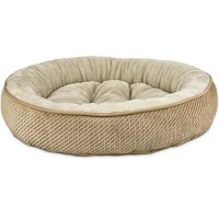 "Harmony Textured Round Cat Bed in Tan, 20"" L x 20"" W"