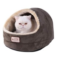 "Armarkat Cave Cat Bed in Laurel Green, 18"" L X 14"" W"