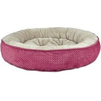 "Harmony Textured Round Cat Bed in Pink, 20"" L x 20"" W"