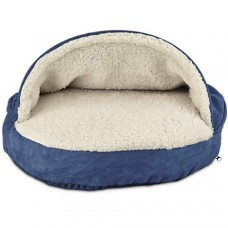 "Harmony Canopy Cat Bed in Navy, ""19 L x 19"" W"