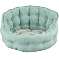 "Harmony Tufted Cat Bed in Seaglass, 18"" L x 17"" W"