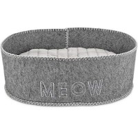 "Harmony Grey Felt Cat Bed, 18"" L x 15.5"" W"