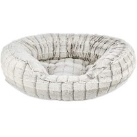 "Harmony Faux Fur Cat Bed in Grey, 20"" L x 18"" W"