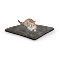 "K&H Gray and Black Self Warming Pet Pad, 21"" L x 17"" W"