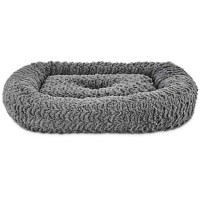 "Harmony Rectangle Cat Bed in Grey, 19"" L x 16"" W"