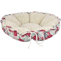 "Harmony Floral Cat Bed, 20"" L x 20"" W"